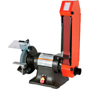 "Palmgren 9682088 Combination Belt & Bench Grinder, 8"" Wheel Dia, 3/4HP, 120/240V"