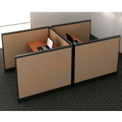 "Compatico CMW Double Call Center Station w/ Electric 48""W x 96""D x 41""H - Winter Birch Taupe"