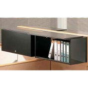 "Compatico CMW 48""W Steel Flipper Door Storage Unit - Black"
