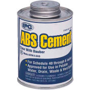 Low V.O.C. Abs Cement™, For Pipe & Fittings, 1/2 Pt. - Pkg Qty 24