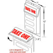 """Outdoor Literature Holder W/Lid, 7""""W X 1-1/2""""D X 12""""H"""