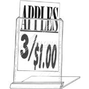"""Affordable Slanted Style Easel Sign Frame, 4""""W X 6""""H"""