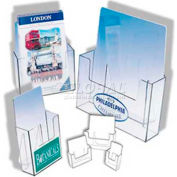 """Free Standing Deluxe Countertop Literature Holder, 6-1/4""""W X 7-1/4""""H X 1-3/4""""D"""