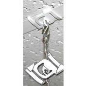 """Secure Metal Twist Ceiling Loop, 7/16""""Dia. Loop, 1-1/2""""L"""
