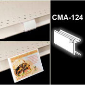 """Channel Mount Advertiser W/Adhesive, 2""""L x 1/2""""W, Clear"""