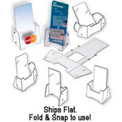 "Fold & Snap Literature Holder, 4""W X 1-1/2""D"
