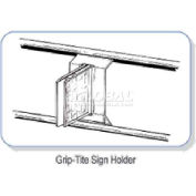 """Grip-Tite Sign Holder, 3/4""""W, Pvc, Clear"""