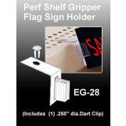 "Perf Shelf Gripper Flag Sign Holder, 2""L X 3/4""W"
