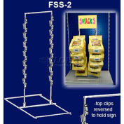 """Free Standing Snack Rack, 3 Wands, 42 Hooks, 24-1/2""""H X 13-1/2""""W, 15"""" X 9"""" Base"""