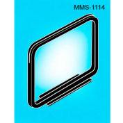 "Metal Sign Frame W/Magnetic Base, 1""L x 14""W, Black - Pkg Qty 25"