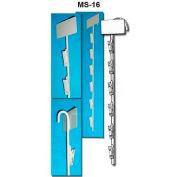 "Metal Merchandising Strips, 12 Stations, 31""L, Silver - Pkg Qty 20"