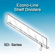"""Econo-Line Shelf Dividers, 1""""H, 13-9/16"""" Depth"""