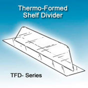 """Thermo-Formed Shelf Dividers, 1""""H, 12"""" Depth"""