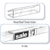 "Wood Shelf Ticket Holders, 7/8""H X 3-1/4""W"
