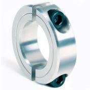 "Two-Piece Clamping Collar, 9/16"", Aluminum"