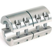 "Two-Piece Industry Standard Clamping Couplings, 1/4"", Stainless Steel"