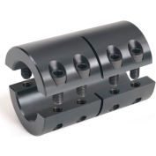 "Two-Piece Industry Standard Clamping Couplings, 1/4"", Black Oxide Steel"