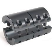 "Two-Piece Industry Standard Clamping Couplings, 1"", Black Oxide Steel"