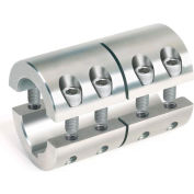 "Two-Piece Industry Standard Clamping Couplings w/Keyway, 1-1/2"", Stainless Steel"