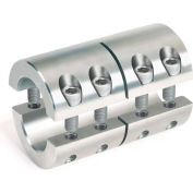Metric Two-Piece Industry Standard Clamping Couplings, 8mm, Stainless Steel