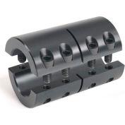 Metric Two-Piece Industry Standard Clamping Couplings, 8mm, Black Oxide Steel