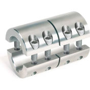 Metric Two-Piece Standard Clamping Couplings w/Keyway, 25mm, Stainless Steel