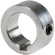 "Climax Metal, Set Screw Collar W/Keyway C-100-A-KW, 1"" Bore, Aluminum"
