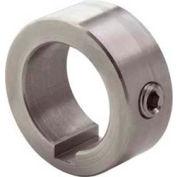 "Climax Metal, Set Screw Collar W/Keyway C-100-S-KW, 1"" Bore, Stainless Steel"
