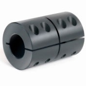 "1-Piece Clamping Coupling Recessed Screw, 3/4"", Black Oxide Steel"
