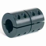 """One-Piece Clamping Couplings Recessed Screw w/Keyway, 1-1/8"""", Black Oxide Steel"""