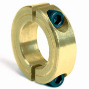 "Corrosion Resistant Two-Piece Clamping Collar CR, 1/2"", Yellow Zinc Dichromate"