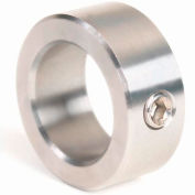 """Corrosion Resistant Set Screw Collar CR, 7/16"""", 316 Stainless Steel"""