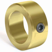"Corrosion Resistant Set Screw Collar CR, 3/4"", Yellow Zinc Dichromate"