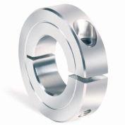"""One-Piece Clamping Collar Recessed Screw, 1/2"""", Aluminum"""