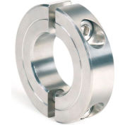 "Two-Piece Clamping Collar Recessed Screw, 3/8"", Stainless Steel"