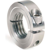 One-Piece Threaded Clamping Collar, Stainless Steel, ISTC-100-14-S