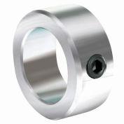 "Lightweight Set Screw Collar L, 1/2"", Zinc Plated Steel"