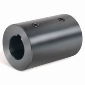 Climax Metal, Metric Set Screw Coupling W/Keyway, MRC-12-KW, Black Oxide, 12mm