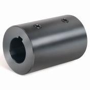 Climax Metal, Metric Set Screw Coupling W/Keyway, MRC-25-KW, Black Oxide, 25mm