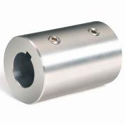 Climax Metal, Metric Set Screw Coupling W/Keyway, MRC-25-S-KW, Stainless Steel, 25mm