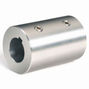 "Set Screw Coupling w/Keyway, 1-1/4"", Stainless Steel With Keyway, RC-125-S-KW"