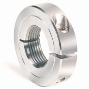 One-Piece Threaded Clamping Collar Recessed Screw, Stainless Steel, TC-100-08-S