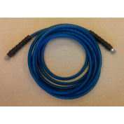 """JanSan Manufacturing Cleaning Solution Hose 200' x 1/4"""", Blue - 30-12103"""