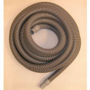 "JanSan Manufacturing Crushproof Vacuum Hose w/Cuffs 50' x 1-1/2"", Gray - 30-12204"