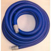 """JanSan Manufacturing Crushproof Vacuum Hose w/Cuffs 50' x 2"""", Blue - 30-12205"""