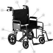 Invacare Corporation 1149223 Hand Brake with Cable Assembly (Pair)