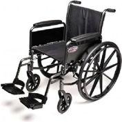 "Graham-Field 3F010140 Traveler L3 Wheelchair - 18"" x 16"" Detachable Full Arm, Swingaway Footrest"