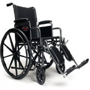 "Graham-Field 3H010240 Advantage Wheelchair - 16"" x 16"", Detachable Full Arm, Swingaway Footrest"