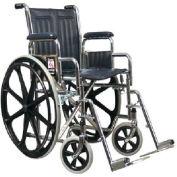 Graham-Field 51010350 Traveler Wheelchair - 20x16 Detachable Full Arms, Elevating Legrest