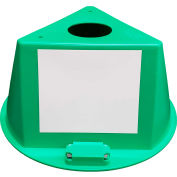 Inventory Control Cone W/ Magnets & Dry Erase Decals, Green